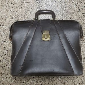 Vintage Leather Doctors Bag Briefcase Federal